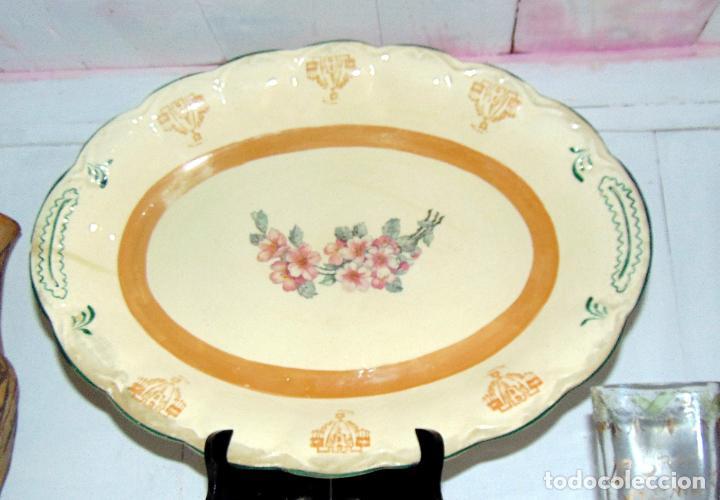 Antigüedades: bonita bandeja, san juan? ver sello 43 cm buen estado - Foto 2 - 189395785