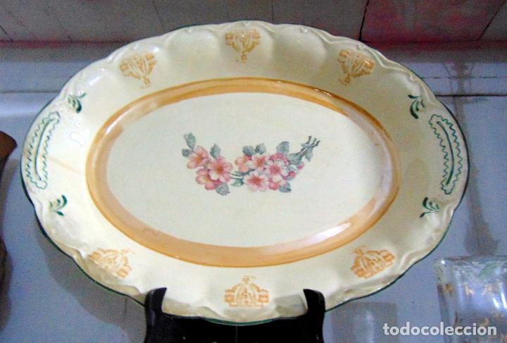 Antigüedades: bonita bandeja, san juan? ver sello 43 cm buen estado - Foto 3 - 189395785