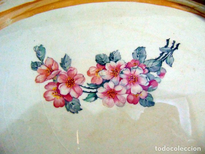 Antigüedades: bonita bandeja, san juan? ver sello 43 cm buen estado - Foto 4 - 189395785