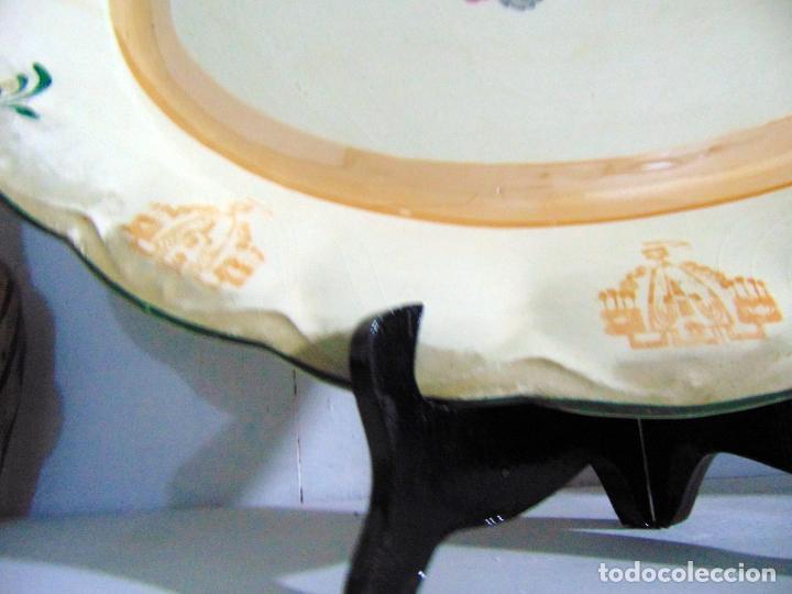 Antigüedades: bonita bandeja, san juan? ver sello 43 cm buen estado - Foto 5 - 189395785