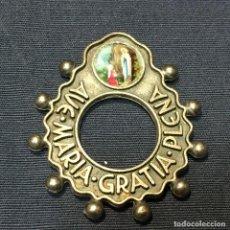 Antigüedades: DECENARIO ROSARIO DE DEDO LOURDES LURDES METAL PLATEADO AVE MARIA GRATIA PLENA S XX 4,5X4CMS. Lote 189395925