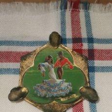 Antigüedades: ANTIGUO CENICERO DE BRONCE ESPAÑA . Lote 189407341