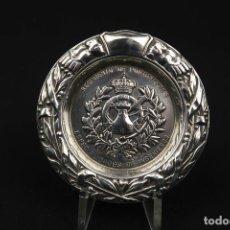 Antigüedades: ANTIGUA BANDEJA DE PLATA ESPAÑOLA CONTRASTE ESTRELLA. Lote 189427013