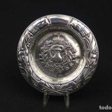 Antigüedades: ANTIGUA BANDEJA DE PLATA ESPAÑOLA CONTRASTE ESTRELLA. Lote 189427072