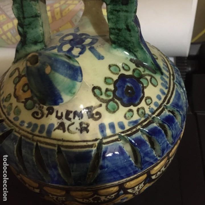 Antigüedades: ORIGINAL BOTIJO DE DOBLE CUERPO PUENTE DEL ARZOBISPO (VER FOTOS) - Foto 2 - 145845742