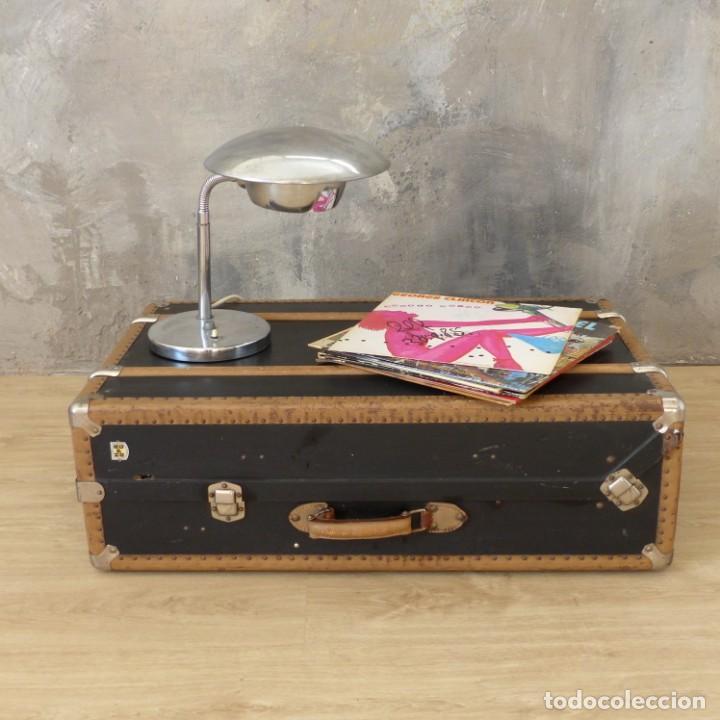 Antigüedades: Antigua maleta / bául de viaje de la segunda guerra mundial de HAPAG LLOYD. 1939 - 1945 - Foto 2 - 189434441
