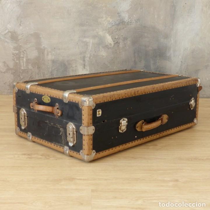 Antigüedades: Antigua maleta / bául de viaje de la segunda guerra mundial de HAPAG LLOYD. 1939 - 1945 - Foto 7 - 189434441