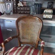 Antigüedades: BUTACA ISABELINA CON 4 SILLAS. Lote 189474485