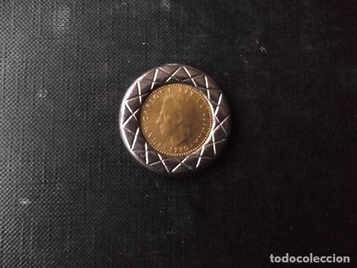 Antigüedades: moneda de 1 peseta mundialito 82 recubierta - Foto 3 - 189487625