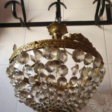 Antigüedades: MUY DECORATIVA Y ANTIGUA LAMPARA DE TECHO. Lote 189488712