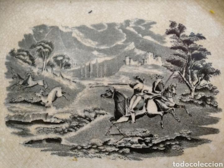 Antigüedades: Antigua bandeja S.XIX Cartagena, 28cm x 22cm - Foto 2 - 189491297