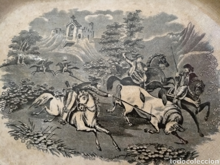 Antigüedades: Antigua bandeja S.XIX Cartagena, 35cm x 27cm - Foto 4 - 189491988