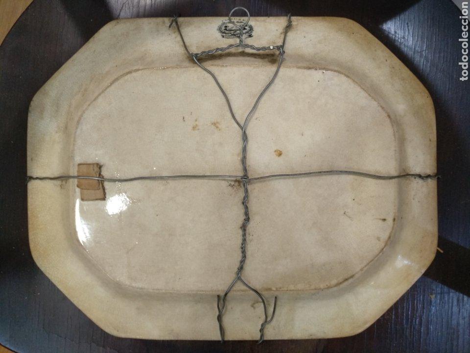 Antigüedades: Antigua bandeja S.XIX Cartagena, 35cm x 27cm - Foto 6 - 189491988