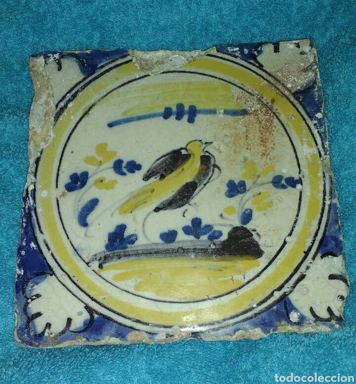 AZULEJO TRIANA SIGLO XVIII POLICROMO. (Antigüedades - Porcelanas y Cerámicas - Triana)