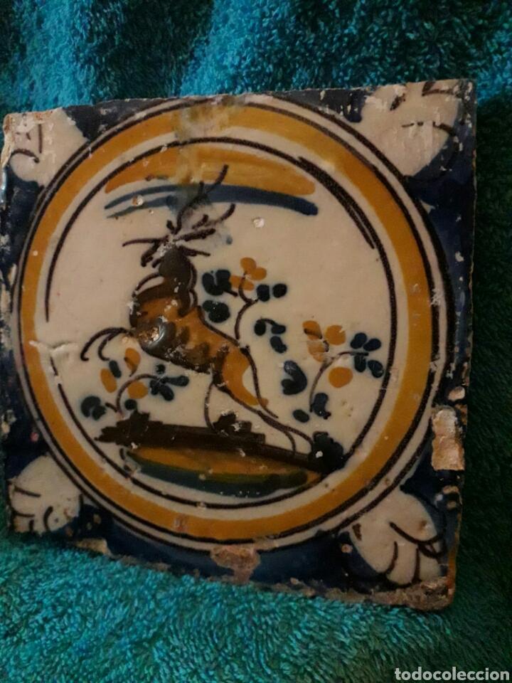 MAGNÍFICO AZULEJO DE TRIANA SIGLO XVIII. SERIE POLICROMA. (Antigüedades - Porcelanas y Cerámicas - Triana)