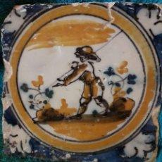 Antigüedades: PRECIOSO AZULEJO DE TRIANA SIGLO XVIII. SERIE POLICROMA.. Lote 189503270