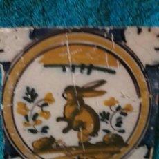 Antigüedades: BONITO AZULEJO TRIANA SIGLO XVIII. SERIE POLICROMA. Lote 189504967