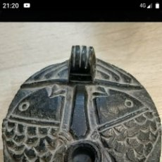 Antigüedades: LÁMPARA DE ACEITE EN PIEDRA. Lote 189513846