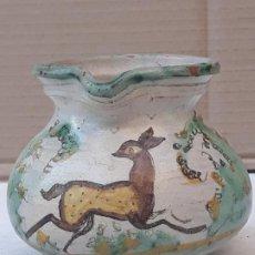 Antigüedades: JARRITA ANTIGUA EN CERAMICA DE PUENTE DEL ARZOBISPO ( TOLEDO ). Lote 189516862
