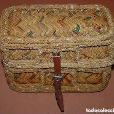 Antigüedades: ZURRON/CAPAZO ARTESANAL DE ESPARTO. Lote 189518945