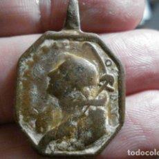 Antigüedades: RARA MEDALLA SAN JUAN BAUTISTA Y SANTA BARBARA - TAMAÑO MEDIANO S. XVII-XVIII. Lote 189527311