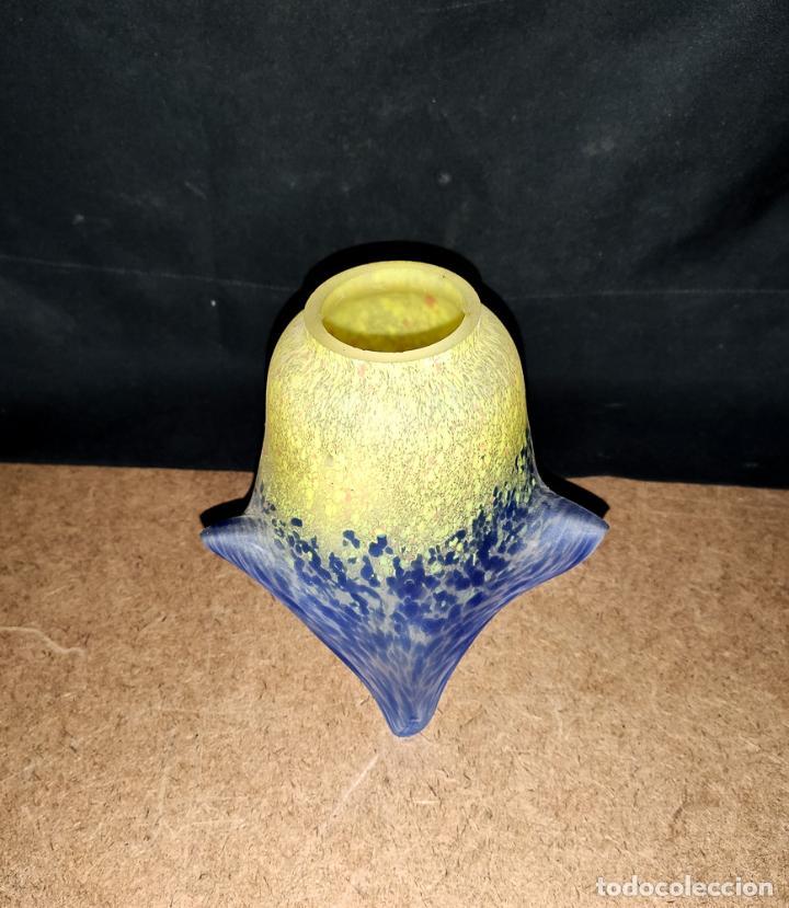 Antigüedades: LAMPARA MODERNISTA EN BRONCE DE SOBREMESA - Foto 9 - 142037002