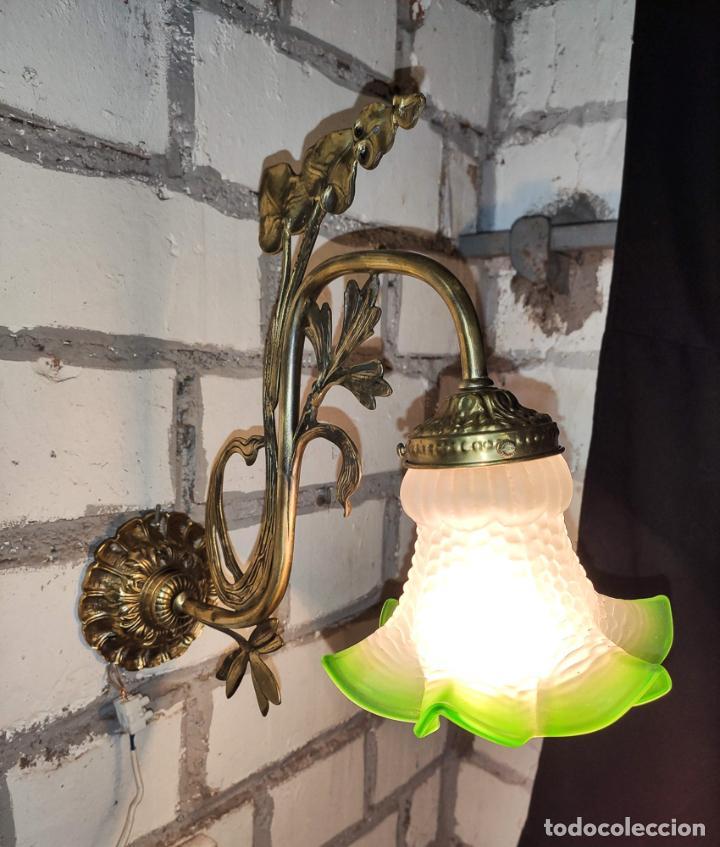 Antigüedades: MAGNIFICO APLIQUE, LUZ, LAMPARA MODERNISTA, C.1900 - Foto 2 - 189539785