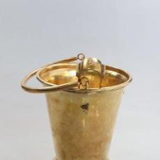 Antigüedades: UN CUBO DE HIELO CON PINZAS EN PLATA LEY MARCADO CON CONTRASTE . Lote 189556688