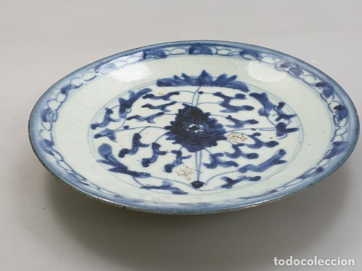 Antigüedades: antiguo plato china chino siglo XIX - Foto 3 - 189558143