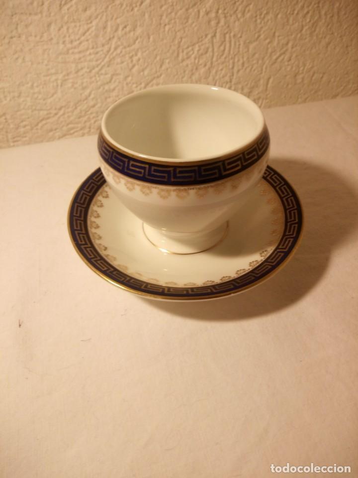 ANTIGUA MOSTARDERA DE PORCELANA EMPIRE BAVARIA. (Antigüedades - Porcelana y Cerámica - Alemana - Meissen)