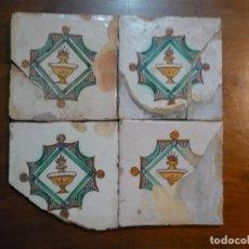 Antigüedades: AZULEJOS CATALANES DEL CANDIL, LLÀNTIA FINALES DEL SIGLO XVIII, NEOCLÁSICOS, ORIGINALES. Lote 189578617