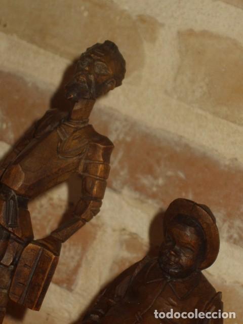 Antigüedades: ESTUPENDA TALLA DE MADERA DE DON QUIJOTE Y SANCHO PANZA.ARTESANIA OURO. - Foto 5 - 189584275