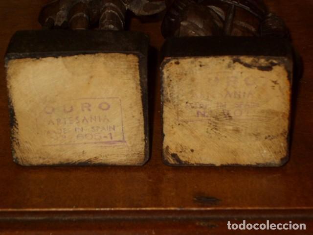 Antigüedades: ESTUPENDA TALLA DE MADERA DE DON QUIJOTE Y SANCHO PANZA.ARTESANIA OURO. - Foto 10 - 189584275