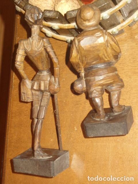 Antigüedades: ESTUPENDA TALLA DE MADERA DE DON QUIJOTE Y SANCHO PANZA.ARTESANIA OURO. - Foto 15 - 189584275