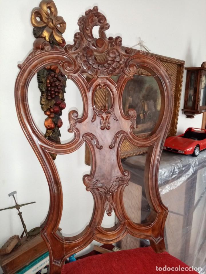 Antigüedades: silla tallada con fallo - Foto 2 - 189591590