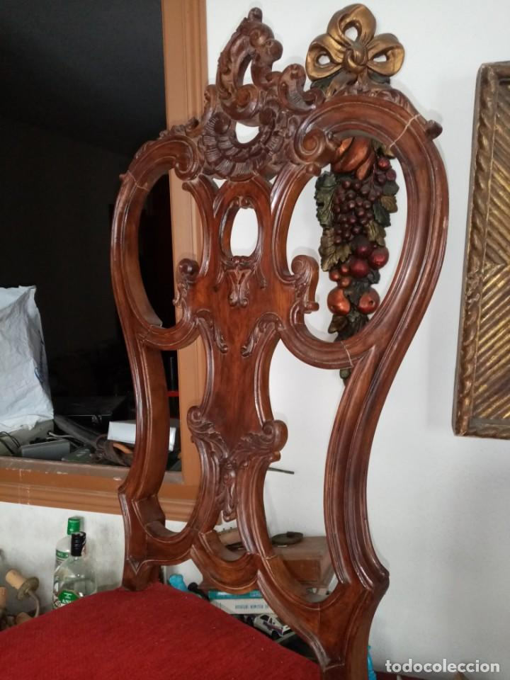 Antigüedades: silla tallada con fallo - Foto 3 - 189591590