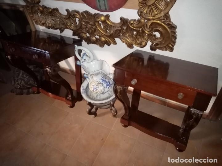 MESITAS DE NOCHE DE MADERA (Antigüedades - Muebles Antiguos - Mesas Antiguas)