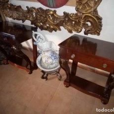 Antigüedades: MESITAS DE NOCHE DE MADERA. Lote 189596393
