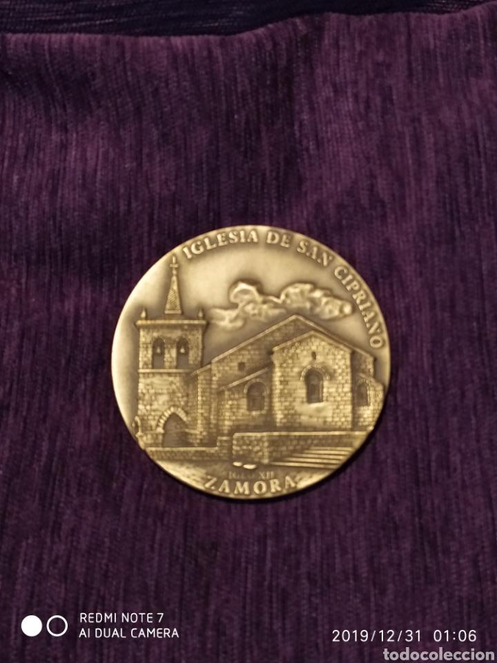 Antigüedades: ROMÁNICO ZAMORANO, SAN CIPRIANO, METOPA BRONCE PULIDO, ÚNICA, VER - Foto 5 - 189600982