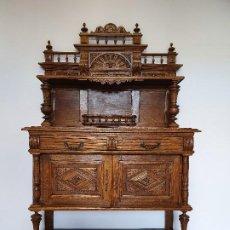 Antigüedades: ANTIGUO APARADOR TRINCHERO CUBERTERO DE ROBLE. Lote 188417407