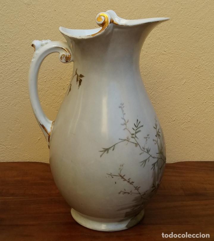 Antigüedades: GRAN JARRA DE AGUAMANIL PORCELANA FRANCESA LIMOGES. SELLO EN BASE W.G & C - Foto 3 - 189616470