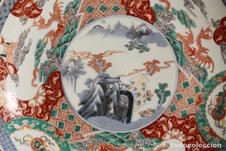Antigüedades: PLATO GRANDE DE PORCELANA JAPONESA ESTILO IMARI SIGLO XIX - Foto 2 - 189634162
