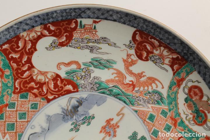 Antigüedades: PLATO GRANDE DE PORCELANA JAPONESA ESTILO IMARI SIGLO XIX - Foto 3 - 189634162