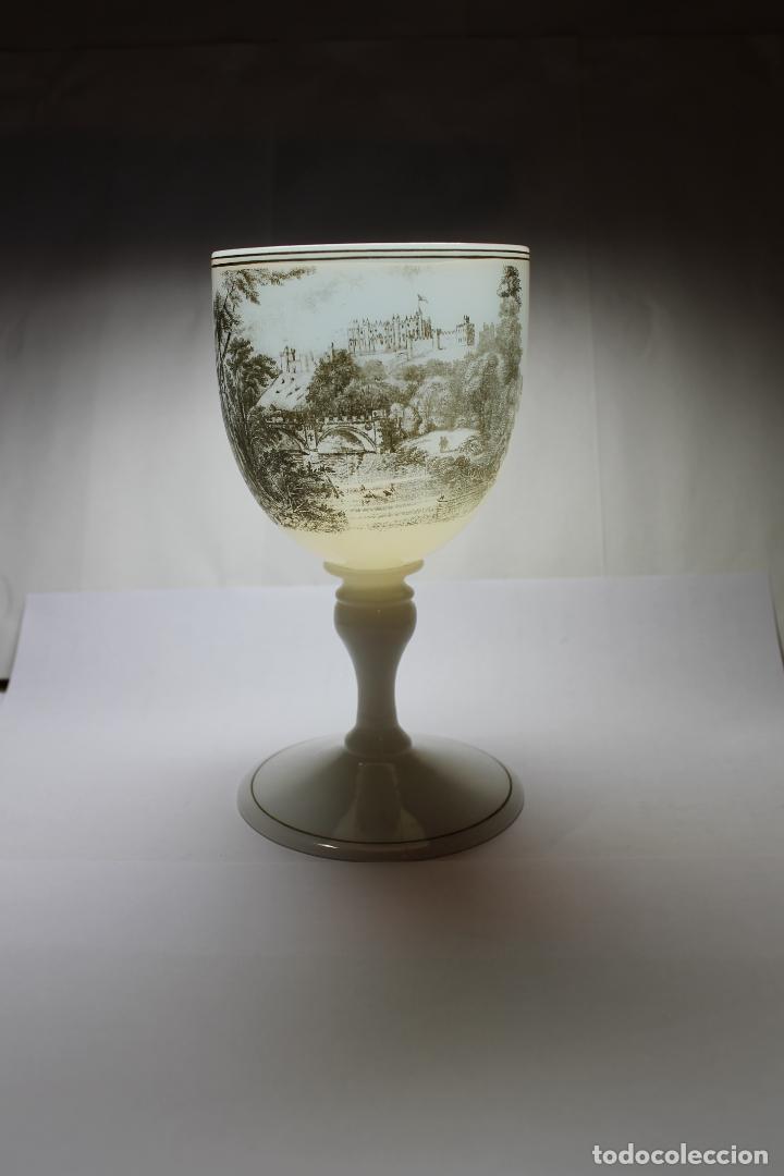 Antigüedades: COPA DE OPALINA INGLESA DE LA CASA RICHARDSONS - Foto 2 - 189637820