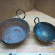 Antigüedades: LOTE DE 2 PEROLAS. Lote 189641618