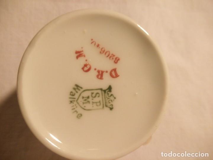Antigüedades: Solitario de taza y cafetera de porcelana s.p.m. walkiire - Foto 5 - 189645653