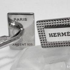 Antigüedades: HERMÈS VINTAGE GEMELOS PLATA LEY 925. Lote 189654512