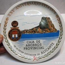 Antigüedades: PLATO PORCELANA ROYAL CHINA-VIGO- SPAIN PUBLICIDAD CAJA AHORROS PROVINCIAL ALICANTE 1979 SELLADO. Lote 189676475