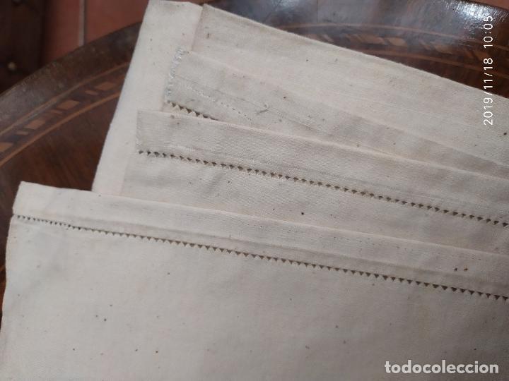 Antigüedades: PAR SABANAS ANTIGUAS GRUESAS DE ALGODON Y CAÑAMO PPS SIGLO XX - Foto 3 - 204013992