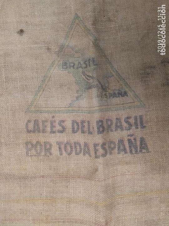 Antigüedades: SACO DE ARPILLERA DE CAFES DEL BRASIL POR TODA ESPAÑA PPS SIGLO XX - Foto 2 - 189700812